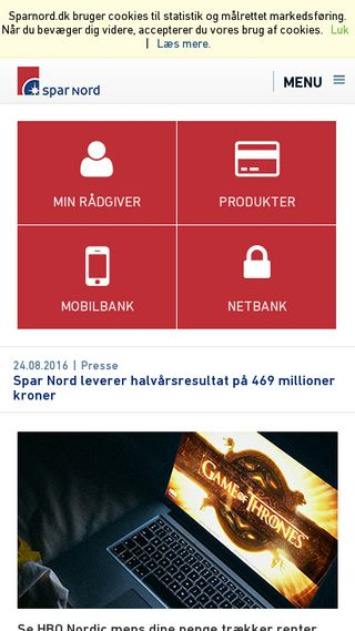 Mobile preview of sparnord.dk
