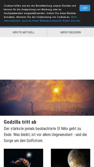 Mobile preview of spektrum.de