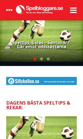 Mobile preview of spelbloggare.se