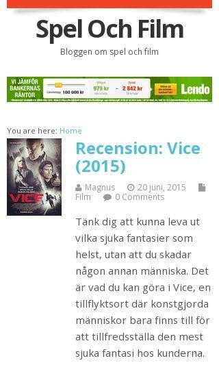 Mobile preview of spelochfilm.se