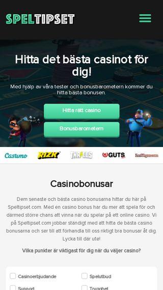 Mobile preview of speltipset.com