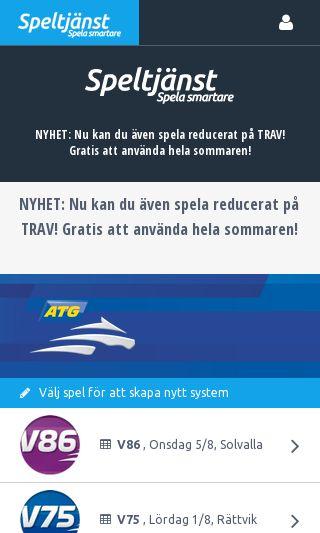 Mobile preview of speltjanst.se