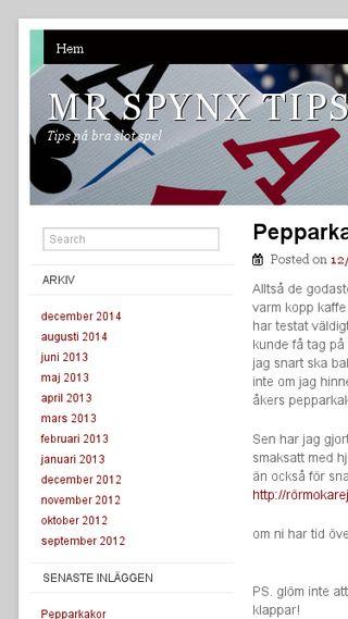 Mobile preview of sphynxar.se