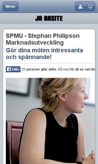 Mobile preview of spmu.se