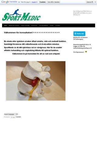 Mobile preview of sportmedic.se