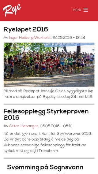 Mobile preview of sportsklubbenrye.no