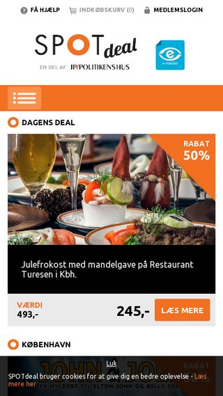 Mobile preview of spotdeal.dk