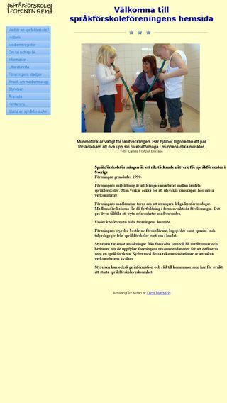 Mobile preview of sprakforskola.se