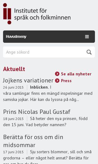 Mobile preview of sprakochfolkminnen.se