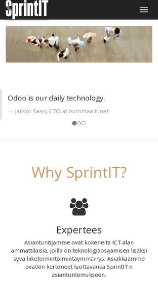 Mobile preview of sprintit.fi