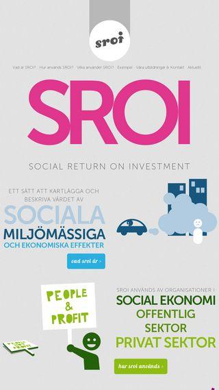 Mobile preview of sroi.se