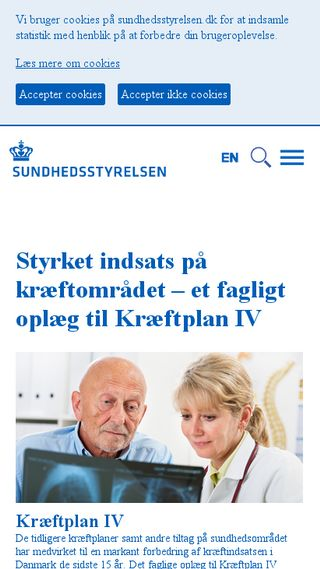 Mobile preview of sst.dk