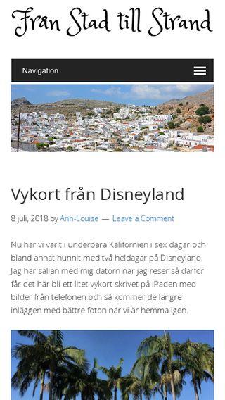 Mobile preview of stadtillstrand.se