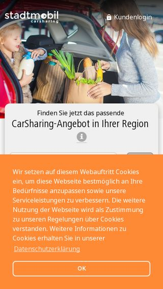 Mobile preview of stadtmobil.de