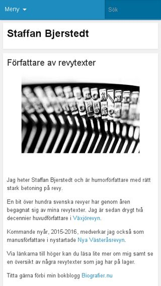 Mobile preview of staffanbjerstedt.se