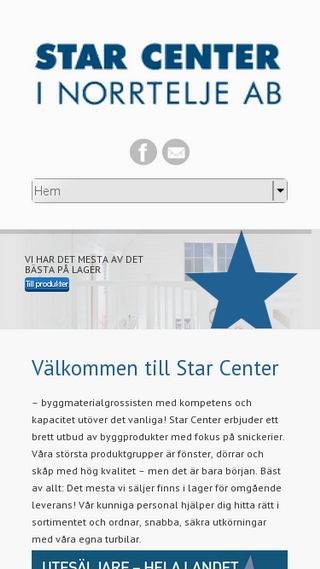 Mobile preview of starcenter.se
