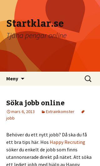 Mobile preview of startklar.se