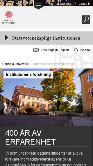 Mobile preview of fauppsala.se