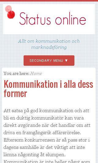 Mobile preview of statusonline.se