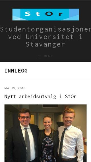 Mobile preview of stavangerstudent.no