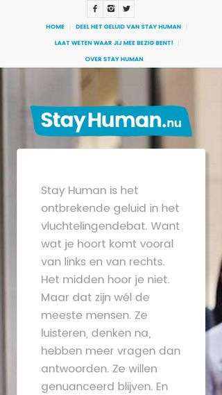 Mobile preview of stayhuman.nu