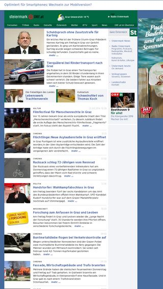 Mobile preview of steiermark.orf.at