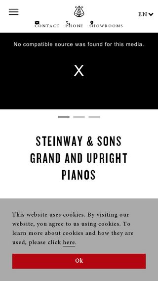 Mobile preview of steinway.com