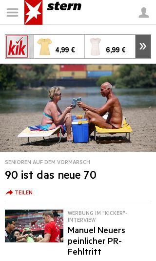 Mobile preview of stern.de