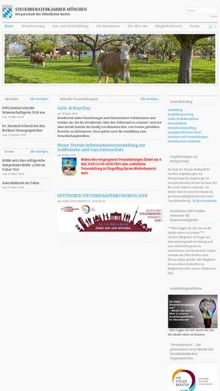 Mobile preview of steuerberaterkammer-muenchen.de