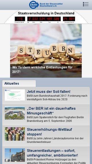 Mobile preview of steuerzahler.de