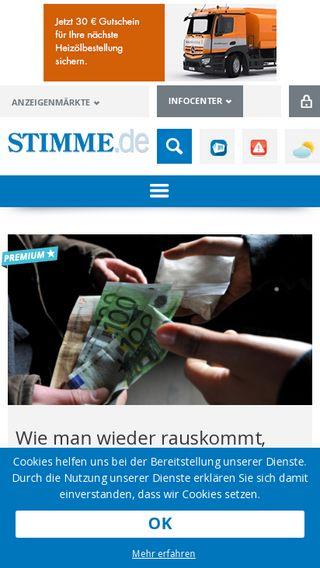 Mobile preview of stimme.de