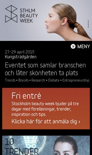 Mobile preview of stockholmbeautyweek.se