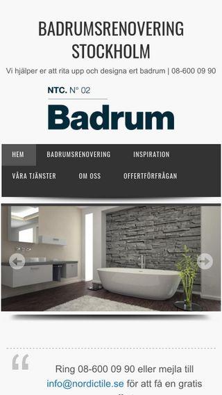 Mobile preview of stockholmsbadrumsrenovering.se