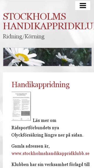 Mobile preview of stockholmshandikappridklubb.n.nu