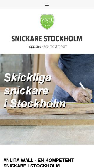Mobile preview of stockholmsnickare.nu