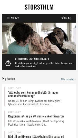 Mobile preview of storsthlm.se