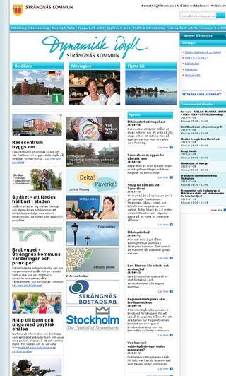 Mobile preview of strangnas.se
