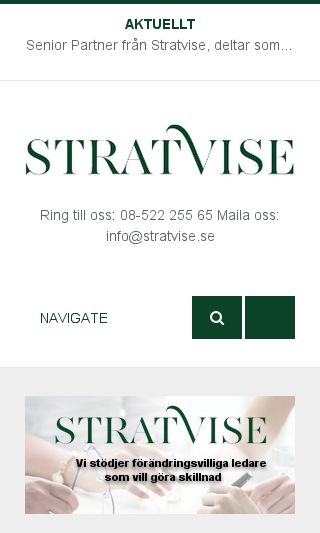 Mobile preview of stratvise.se