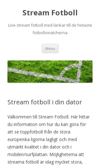 Mobile preview of streamfotboll.se