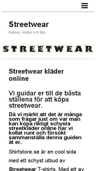Mobile preview of streetwear.n.nu