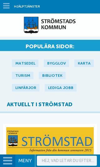 Mobile preview of stromstad.se