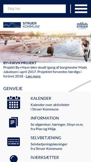 Mobile preview of struer.dk