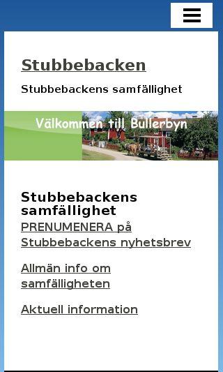 Mobile preview of stubbebacken.se
