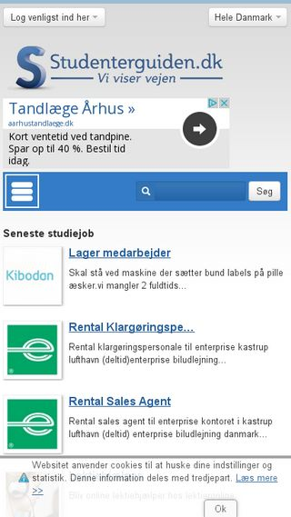 Mobile preview of studenterguiden.dk