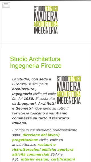 Mobile preview of studiomadera.it