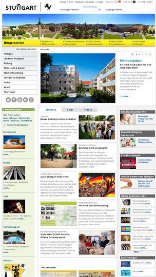 Mobile preview of stuttgart.de