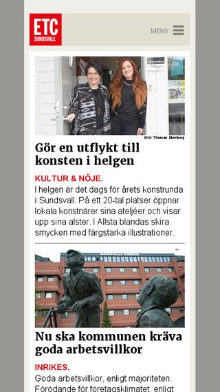 Mobile preview of sundsvall.etc.se