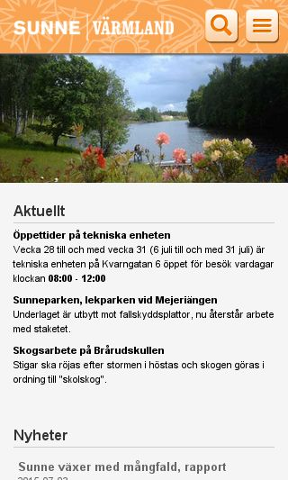 Mobile preview of sunne.se