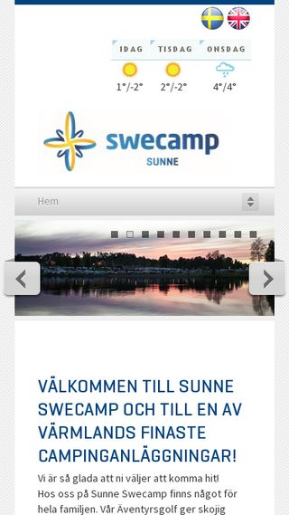 Mobile preview of sunnecamping.se