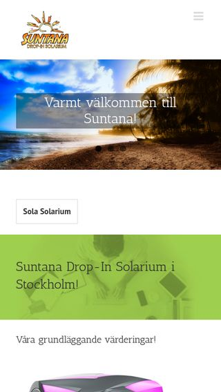 Mobile preview of suntana.se